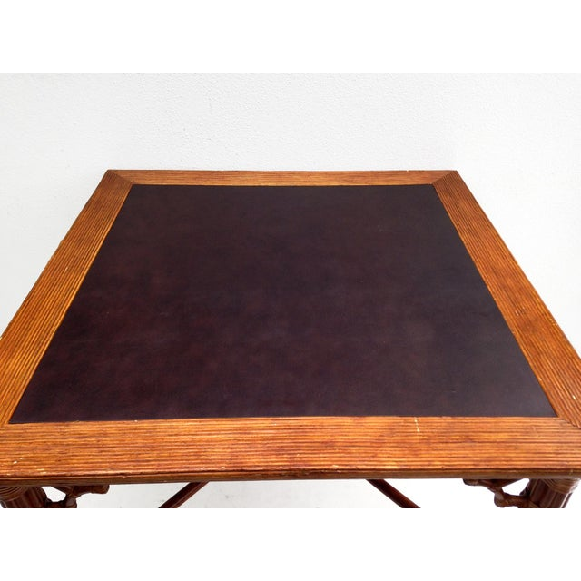 Faux Bamboo Dining Card Table - Image 3 of 3