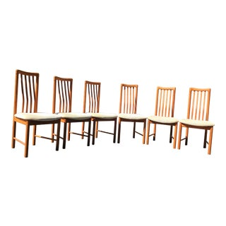 Benny Linden Mid-Century Teak Dining Chairs - Set of 6