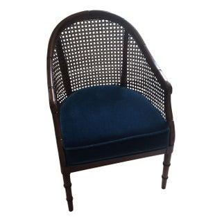 Vintage Cane Back Barrel Chair