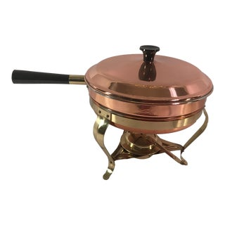Vintage Copper & Brass Chafing Dish