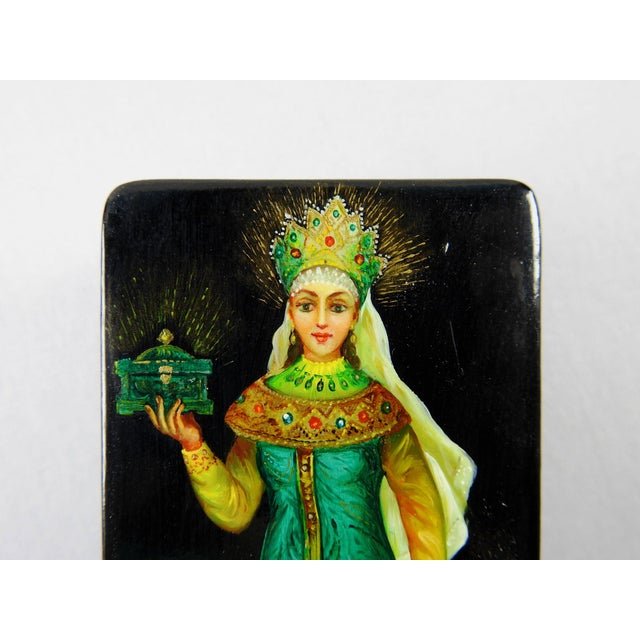 Russian Hand Painted Lacquer Box - Image 4 of 7