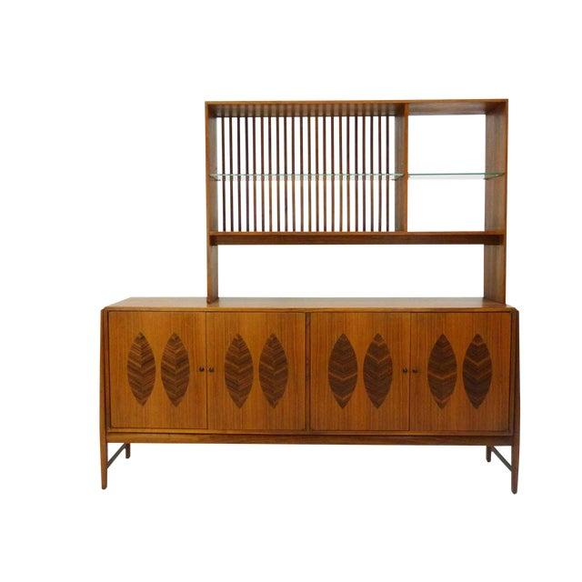 Kipp Stewart for Calvin Furniture Teak & Rosewood Inlay Sideboard - Image 3 of 11