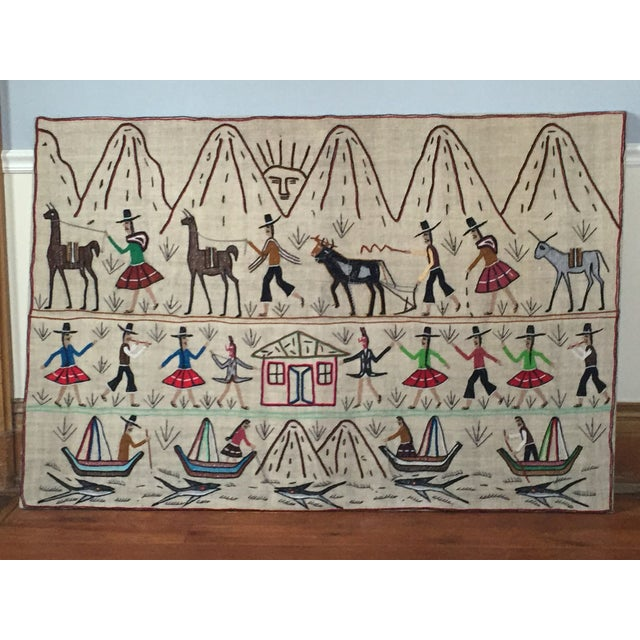 Central American Traditional Art Textile - Image 2 of 4