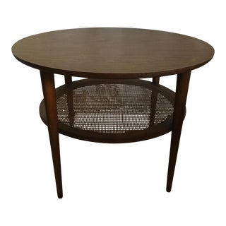 Mid-Century Round Lane Side Table