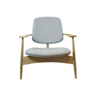 Mid-Century White Oak Hilltop Lounge Chair