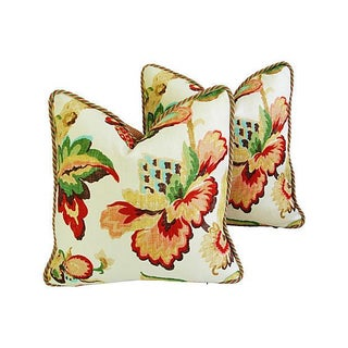 Designer Schumacher Kelmscott Manor Pillows - Pair