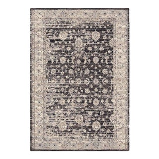 Brown Distressed Area Rug - 5′3″ × 7′7″