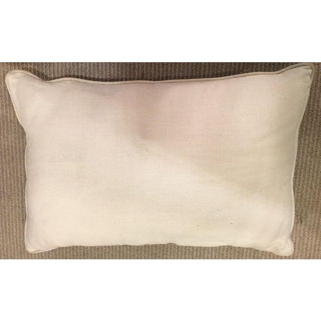 Silk and Linen Asian Throw Pillow - Image 2 of 3