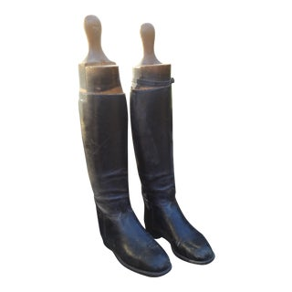 1920s Boots and Wooden Lasts - Pair