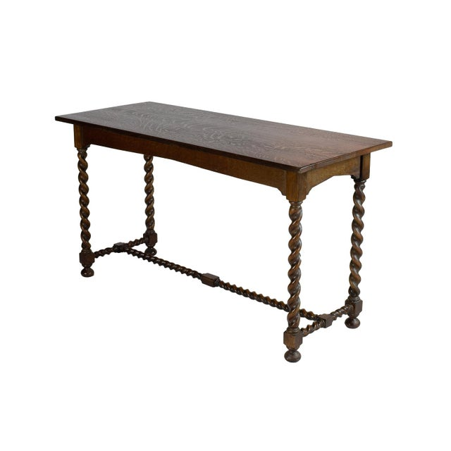 Stickley Brothers Oak Console - Image 1 of 3