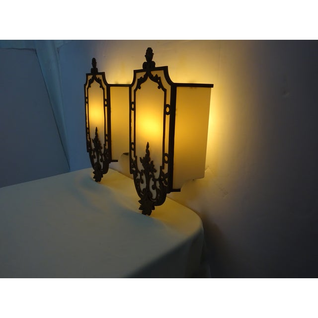 Sterling Bronze Co. Antique Deco Sconces - A Pair - Image 5 of 9