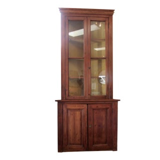 Antique French Pine Corner Cabinet