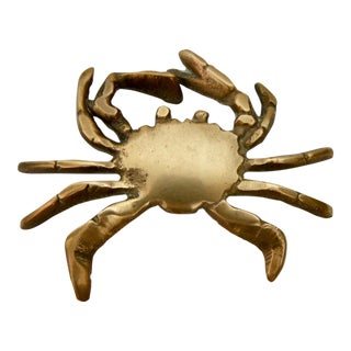 Vintage Brass Crab Paper Weight