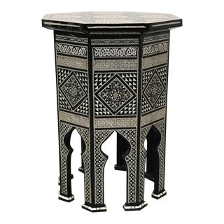 Egyptian Inlaid Mother of Pearl Side Table