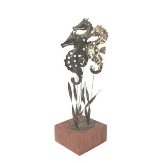 Mid-Century Seahorse Table Top Sculpture