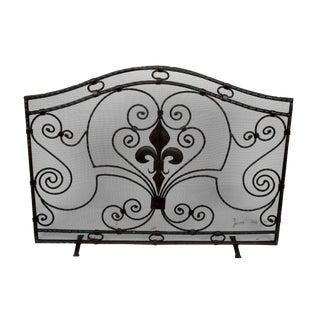 Handmade Wrought Iron Fireplace Screen