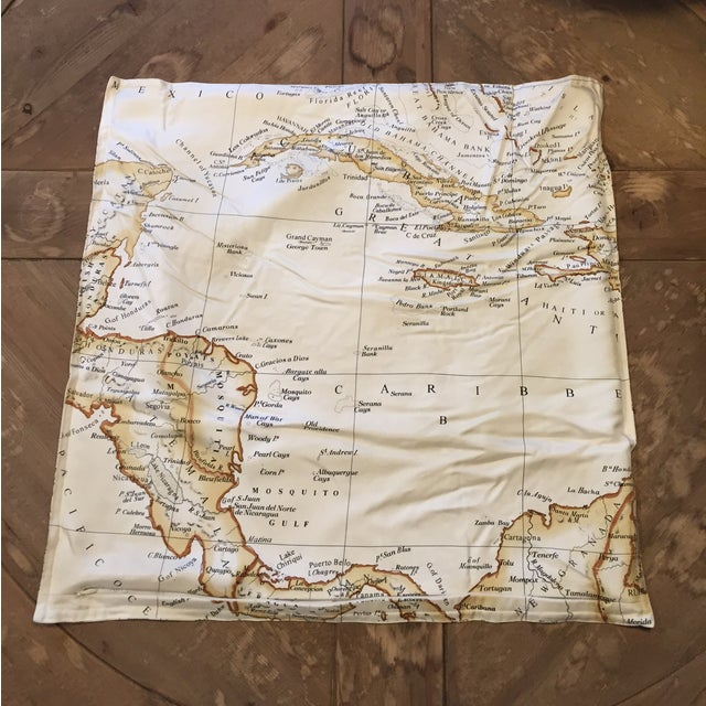 Williams-Sonoma Silk Map Pillow Cover - Image 3 of 5