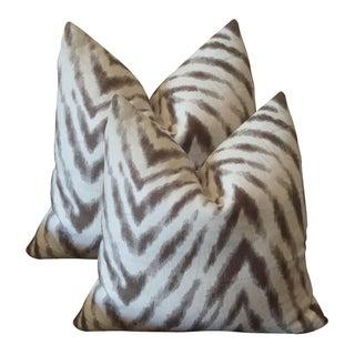 Barclay Butera Brown & White Zebra Pillows - Pair