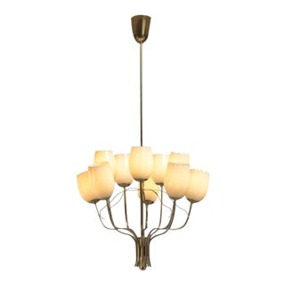 Paavo Tynell Chandelier for Sokos Helsinki House, Taito, Finland, 1950s