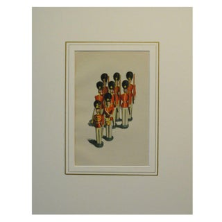 """1920s Lithograph """"Toy Soldiers"""" by Walter Trier"""