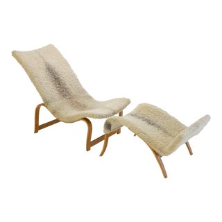 Bruno Mathsson Model 36 Easy Chair with Footrest