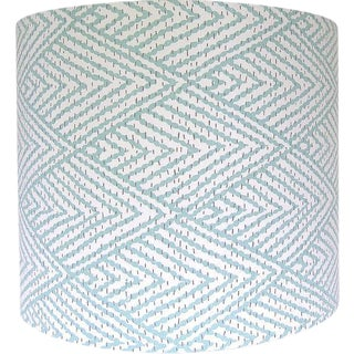Lacefield Designs Tahitian Stitch Fabric Drum Lamp Shade