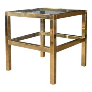 Mastercraft Two Tiered Brass Side Table