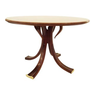 Osvaldo Borsani Rare and Important Center Table in Cherry and Glass