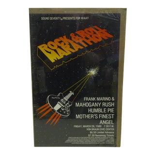 1980 Rock-N-Roll Marathon Von Braun Civic Center Poster