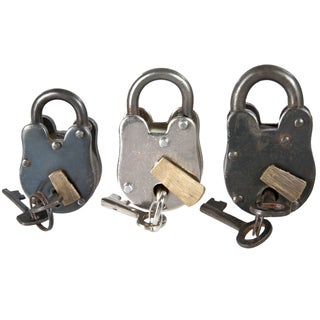 Vintage Inspired Metal Padlocks - 3