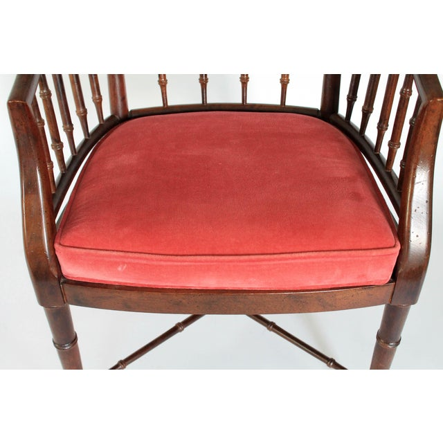 Faux Bamboo Armchair - Image 7 of 8