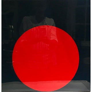 "Stephanie Henderson ""Glossy Red Dot on Navy"" Painting"