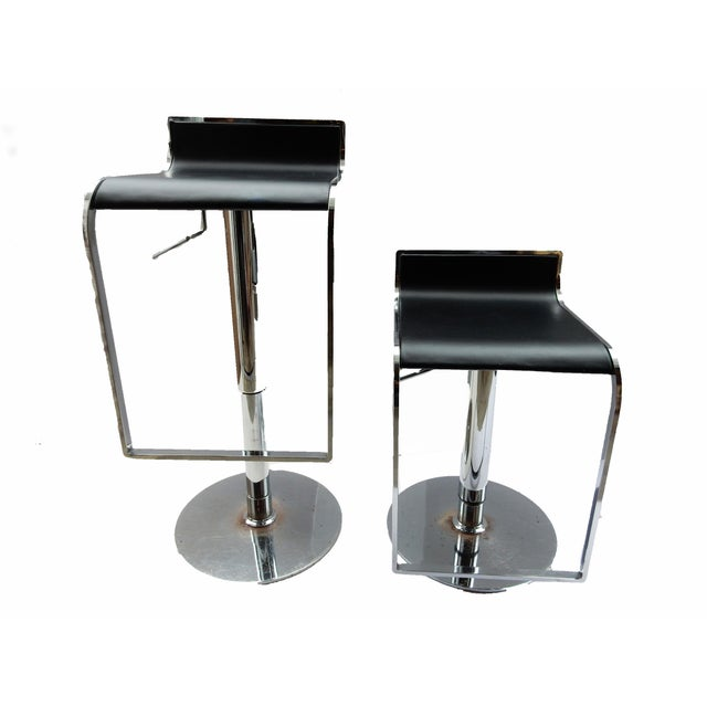 Image of Chrome Swivel Counter/Bar Stools - A Pair