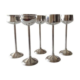 Silverplate Footed Votive Candle Holders -Set of 5