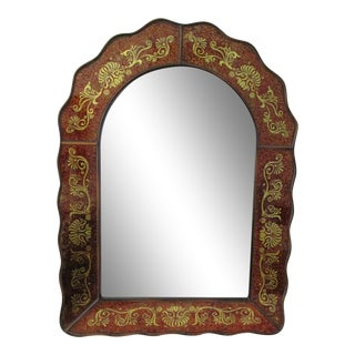 Moroccan Gold Scrolled Mirror
