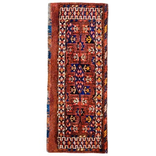 19th Century Yamut Rug - 1′ × 3′