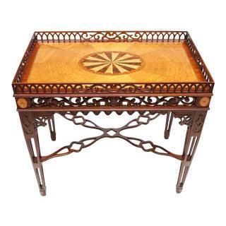 Maitland Smith Chippendale Mahogany Tea Table