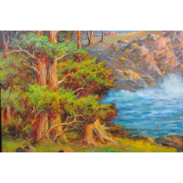 1935 Andreas Roth Carmel Coastline Oil Painting - Image 6 of 9