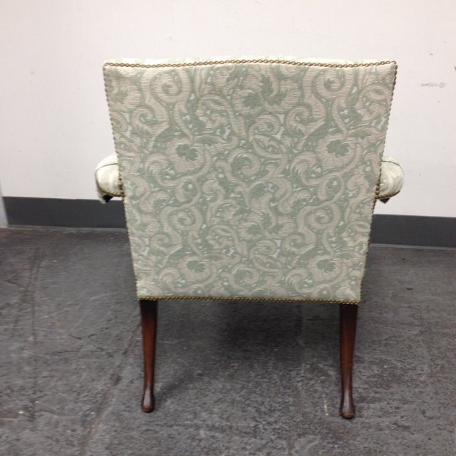 Mahogany Armchair With Nail Heads - Image 5 of 8