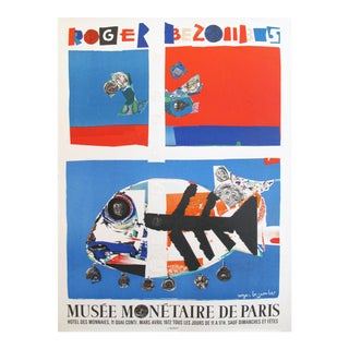 1972 Roger Bezombes Exhibition Poster, Musee Monetaire