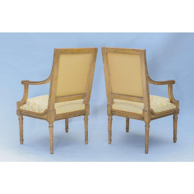 Pair of Early 19th Century Louis XVI Fauteuils - Image 4 of 10