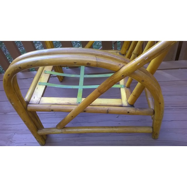Vintage Bamboo Bentwood Rattan Chairs - A Pair - Image 7 of 10