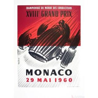 """Rene Lorenzo """"Monaco Grand Prix 1960"""" 1994 Lithograph"""