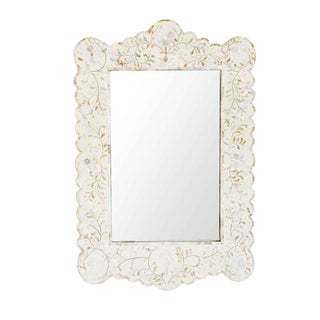 Mother of Pearl & Bone Mirror