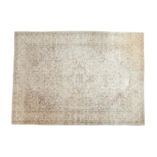 "Vintage Distressed Oushak Carpet - 8'10"" x 12'3"""
