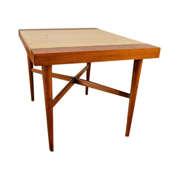 Image of Mid Century Danish Style Italian Marble End Table