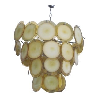 Large Murano Glass Disc Chandelier or Pendant by Vistosi