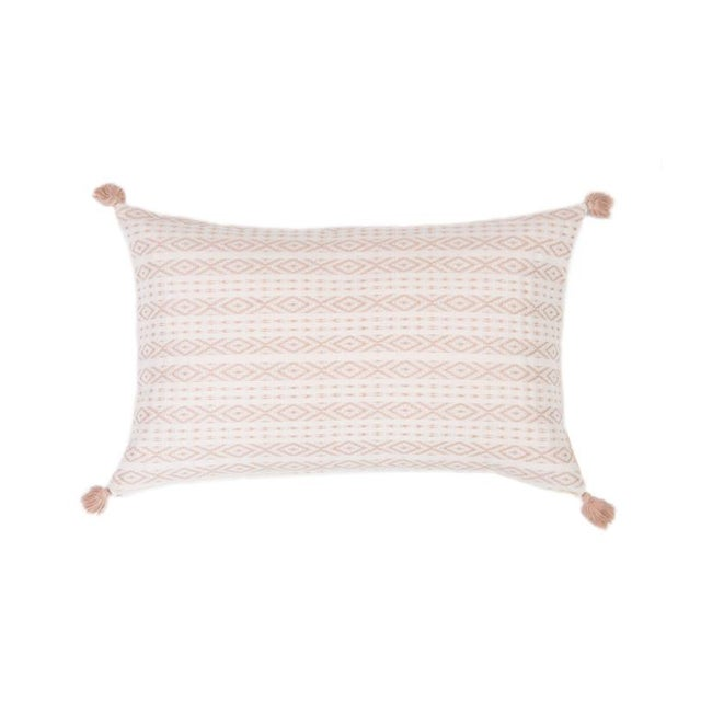 Blush Handwoven Mexican Pillow - Image 1 of 6