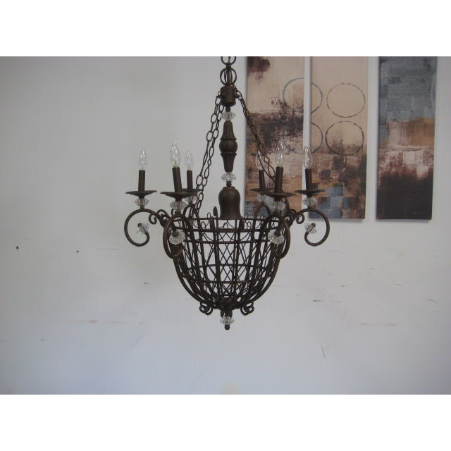Oil Rubbed Bronze Candle Style Chandelier - Image 3 of 8