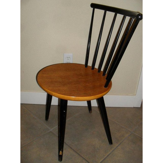 Danish Modern 1950's Teak Spindle Back Chair - Image 4 of 6